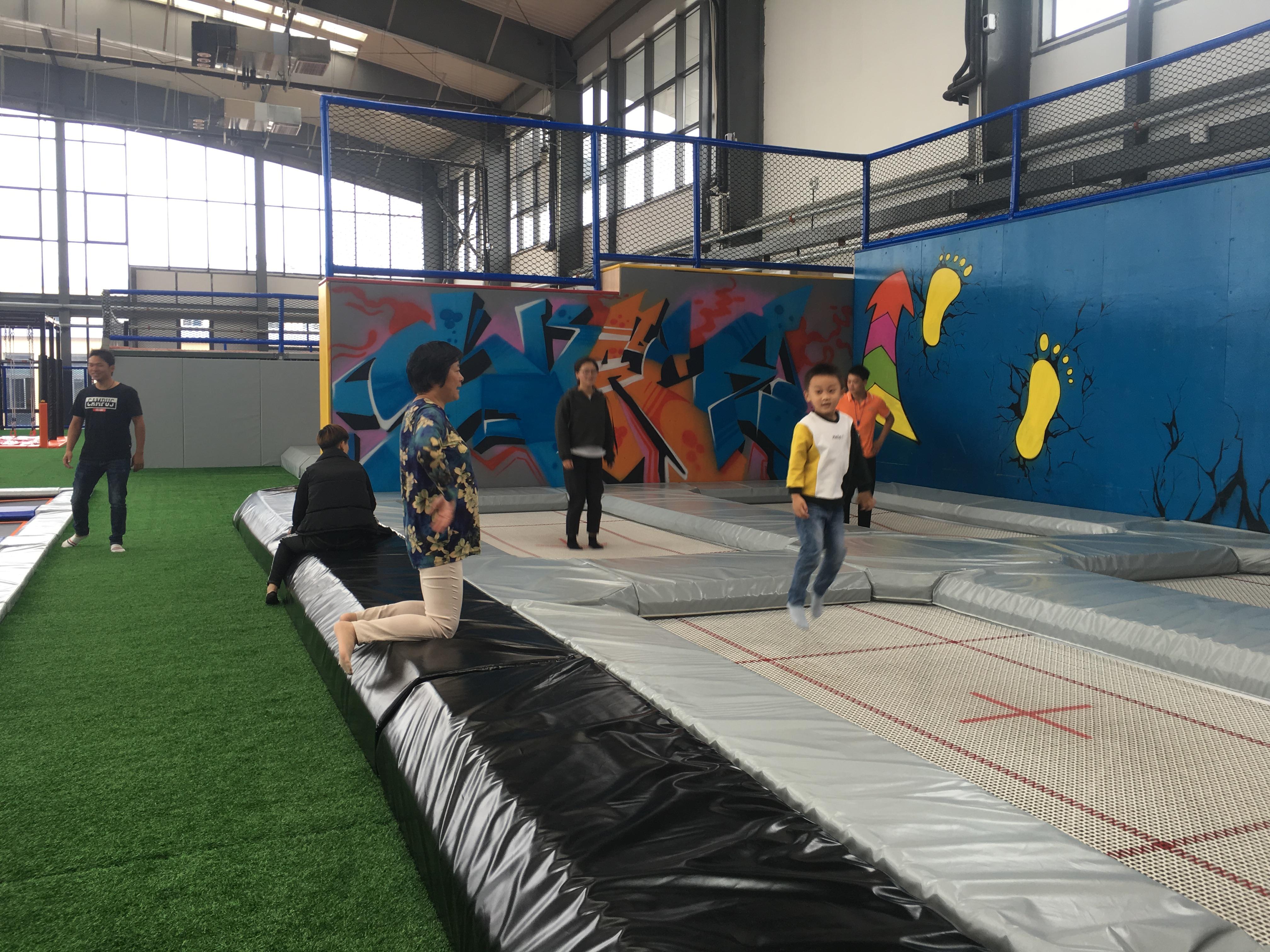 口袋屋盐城室内大型蹦床乐园-1500平, 室内蹦床公园