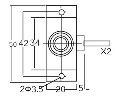 2EK capacitance proximity switch sensor