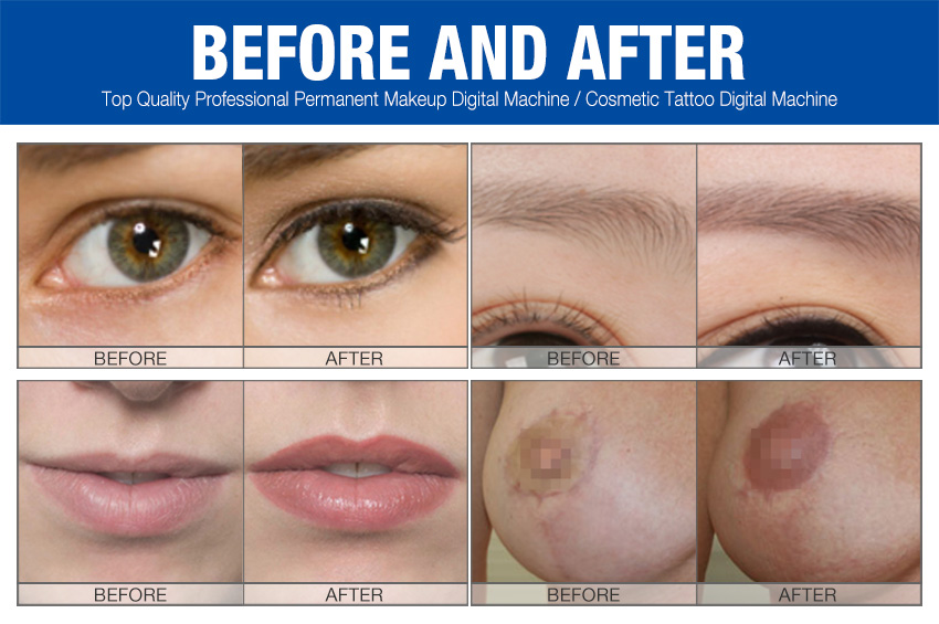 permanent makeup machine before and after